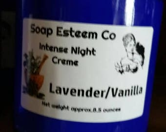 Intense Creme/LavenderVanilla/Mother's Day/Shea Butter/Cocoa Butter/Honey/9 ounces/Essential Oil/Healing Oils
