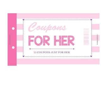 Coupons for Her (25 High Quality Color Coupons)