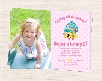 Queen Cupcake Custom Photo Birthday Party Invitation   Queen Cupcake Party Invitation Printable   Girl Birthday   Gracie Lee Design