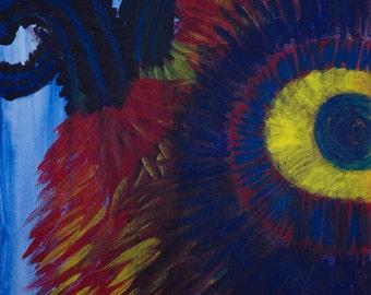 Horned, Furry Monster Painting