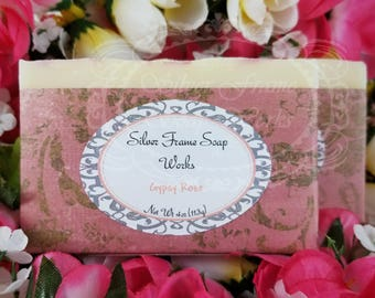 Gypsy Rose - Soft Feminine Soap - Handmade - From Scratch - Cold Process - Olive Oil Soap - 4 Ounce Bar