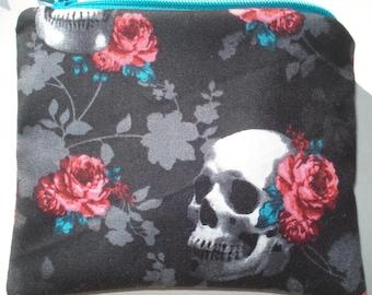 Skulls & Roses Zipper Pouch
