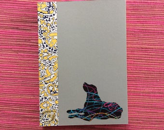 Labrador Doggy Tales Notebook in Liberty London Art Fabric