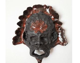 Headdress Ceramic Wall Mask