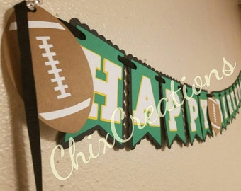 Football birthday banner