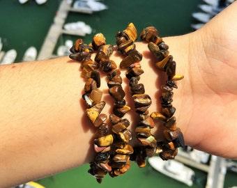 Tigers Eye Bracelet infused with Reiki / Healing Tigers Eye Jewelry / Mens bracelet