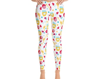 Honey Rosh Hashanah Leggings, Pomegranate, Apples, Honey, Jewish Holiday, Apples Dipped in Honey, Shana Tova, Jewish present, Jewish New Yea