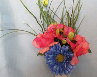 spring time wall hanger blue and pink