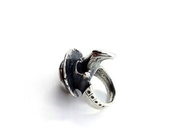 Plague Doctor Skull Ring (Sterling Silver)