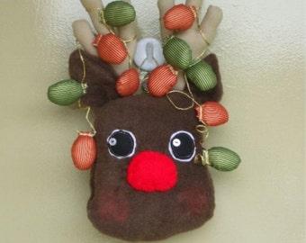 Primitive Plushie Reindeer Door Greet ePattern Digital Instant Download
