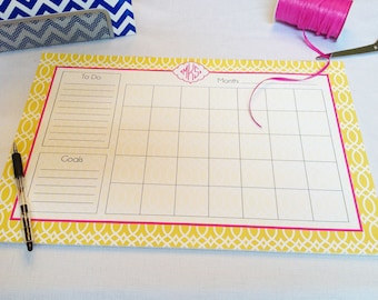 Calendar Note Pad or Desk Planner - Design Your Own