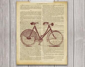 Bike Print - 8x10 Bicycle Art, Vintage Bike, Vintage Print, Bike Decor, Printable Art, Bicycle Wall Decor, Bicycle Decor