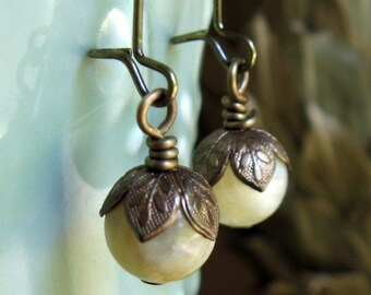 Pale Yellow Earrings