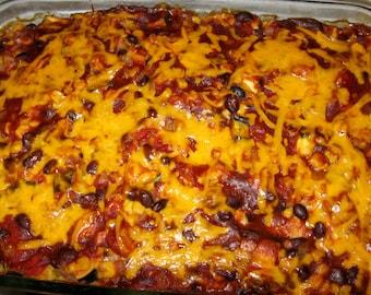 Vegetarian Chilaquiles Casserole HEALTHY Recipe