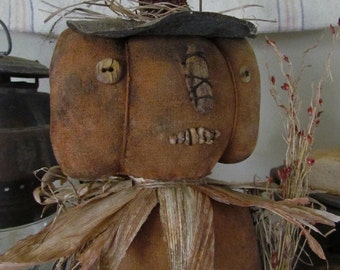 Primitive Folk Art Standing Pumpkin Doll PDF E-Pattern