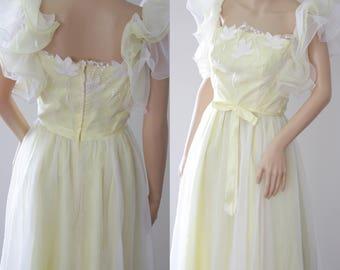 SALE -Whimsical 70s/80s Boho Bride/Bridesmaid/Ball/Engagement Dress