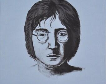 John Lennon Painting 8x10 Print