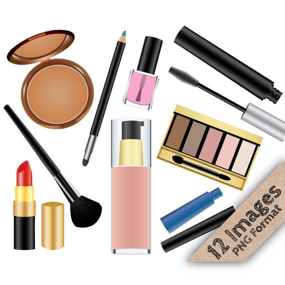 makeup clip art make up clipart cosmetic clipart lipstick rh etsystudio com makeup clipart black and white makeup clipart black and white