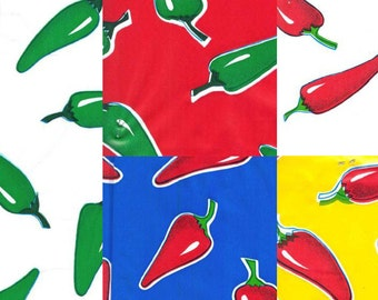 Chiles Oilcloth, Yardage