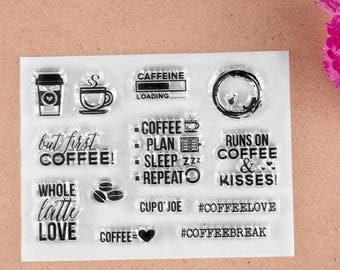 Coffee Lovers Clear Stamp Set