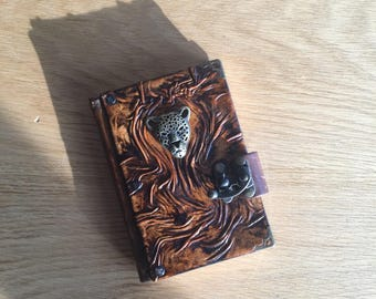 Steampunk Journal, Leather Journal, Leather Notebook, Leather Diary, Travel Journal