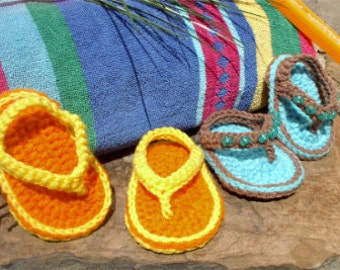 The ORIGINAL Baby Thong Sandals Crochet Pattern Baby Booties Baby Sandals