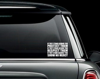 If they Stand Behind You Car Truck Van Window or Bumper Sticker Vinyl Decal