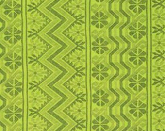 """Amy Butler, Bright Heart, Cosmo Weave in Citrine, SATEEN, Designer Home Dec, 55"""" Wide, Lime Green Home Dec Fabric, Half Yard, 18"""""""