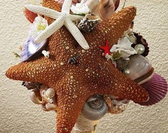 NEW!! Seastar wedding bouquett by Shellisimo:)
