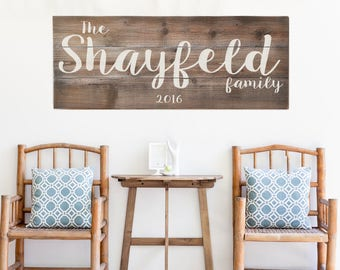 Large Last Name Sign | Family Established Sign | Personalized Family Name sign | Weathered Farmhouse Sign | Housewarming Gift | Wedding Gift