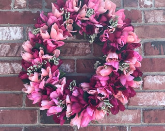 Tulip Wreath, Valentines Day Wreath, Summer Wreath,Door Wreath,