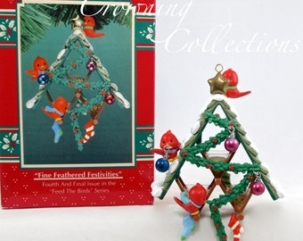 Enesco Fine Feathered Festivities Bird Feeder Treasury of Christmas Ornament Feed the Birds Bird House Friends 4th Final Series M. Gilmore