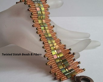 Art Deco Crowns Bracelet Tutorial - Instant Download