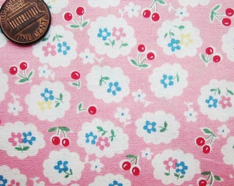 Cute Cotton Fabric - Pink Cherry
