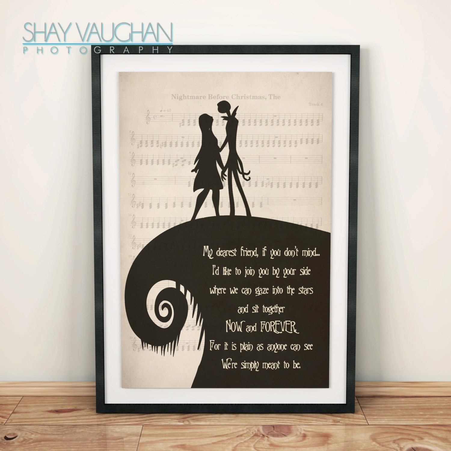 The Nightmare Before Christmas Poster Jack and Sally My