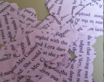 Philip Pullman His Dark Materials heart shaped confetti, perfect for weddings and other special occasions