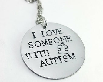 I Love Someone With Autism Necklace, Autism Necklace, Autism Awareness, Autism Parent, Autism Jewelry, Autism Gift, Special Needs Jewelry