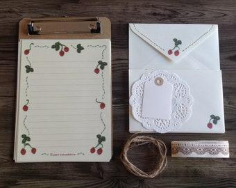 Cottage charm writing set, stationery set, gorgeous gift writing set, stationary set