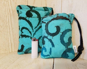 Teal baltic padded pipe bags
