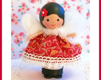 Fairy Doll, Small Fabric Doll, Little Girl Gift, FlowerGirl Gift, Take Along Doll, Little Sister, Handmade Dolls, Small Doll, Dolls Handmade