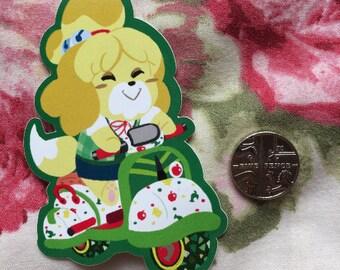 Isabelle - Animal Crossing New Leaf / Mario Kart sticker