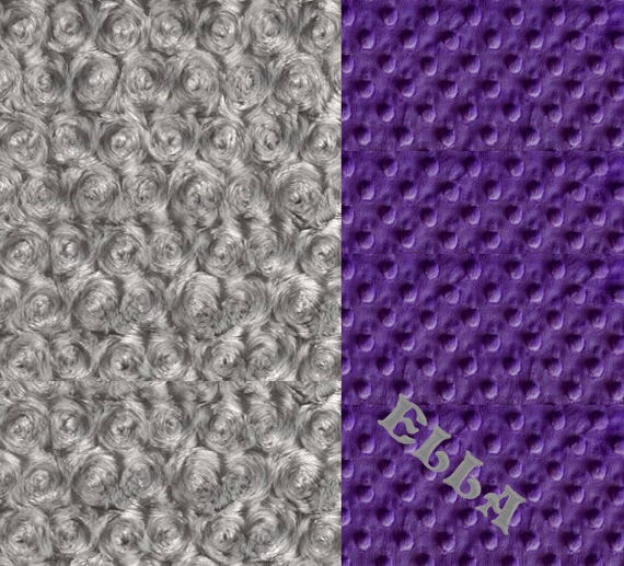 Purple Baby Girl Minky Baby Blanket, Personalized Baby Blanket, Handmade Receiving Blanket, Name Baby Blanket, Baby Gift, Baby shower gift