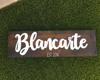 MADE TO ORDER, Last Name Sign, Name Sign, Wedding Gift