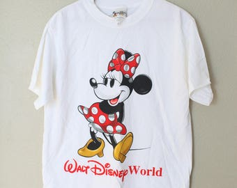 vintage minnie mouse walt disney world white t shirt