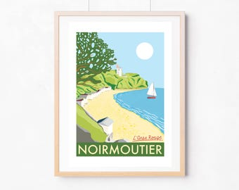 Noirmoutier poster / retro style