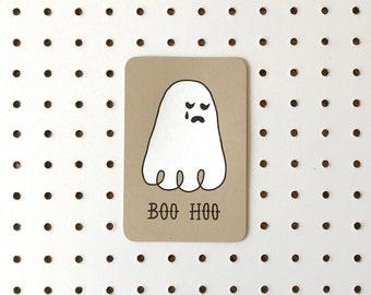 Screenprinted Postcard - BOO HOO