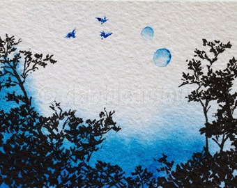 Pandora, Avatar Series - ACEO sized, original painting by dabblelicious
