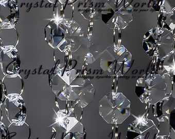 Decorative chandelier crystals prisms by crystalprismworld 12 ft crystal garland wedding chandelier chain strands mozeypictures Image collections