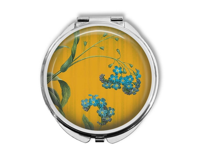 Forget-me-not Compact Mirror Pocket Mirror Large