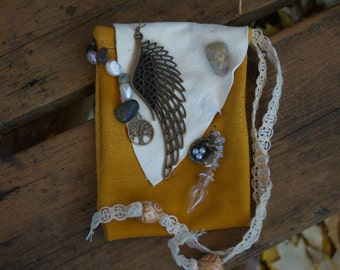 Spirit Pouch for Peace, Serenity, Angels, and White Witches